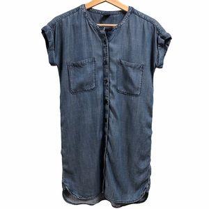 Gap Kids Denim Shirt Dress with Tie Size XL